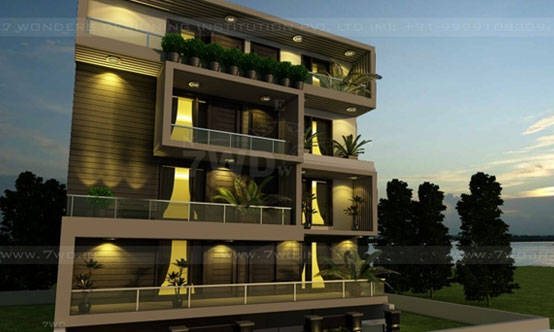 Exceptionnel 3D BUILDER FLOOR EXTERIOR DESIGNNING