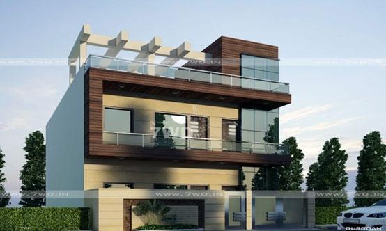 3D FARM HOUSE EXTERIOR DESIGNNING